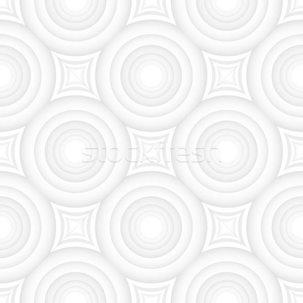 Vector geometrisch patroon naadloos licht textuur weefsel Stockfoto © ExpressVectors