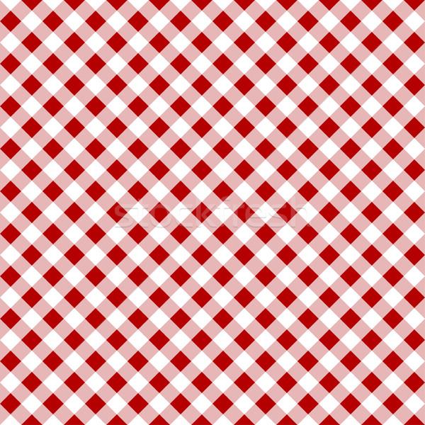 Bez vektör desen beyaz kırmızı tekstil Stok fotoğraf © ExpressVectors