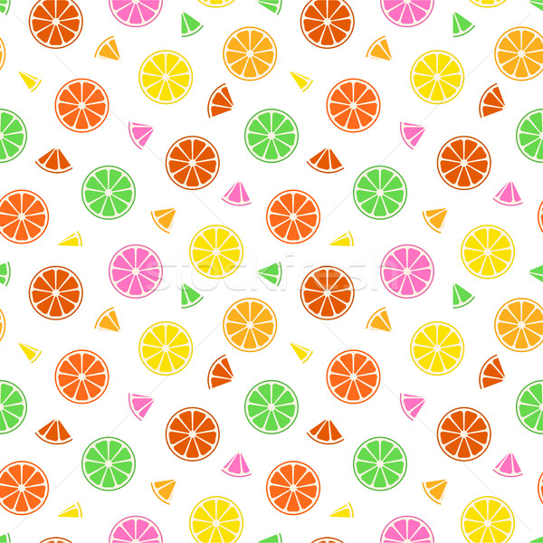 Színes gyümölcs minta végtelenített nyár papír Stock fotó © ExpressVectors