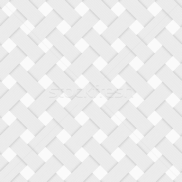 Geometric woven texture - seamless. Stock photo © ExpressVectors
