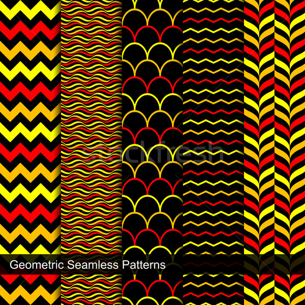 Collection of geometric seamless patterns. Stock photo © ExpressVectors