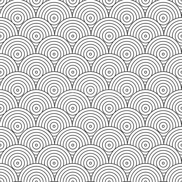 Vektor geometrikus minta csempe mozaik körök feketefehér Stock fotó © ExpressVectors