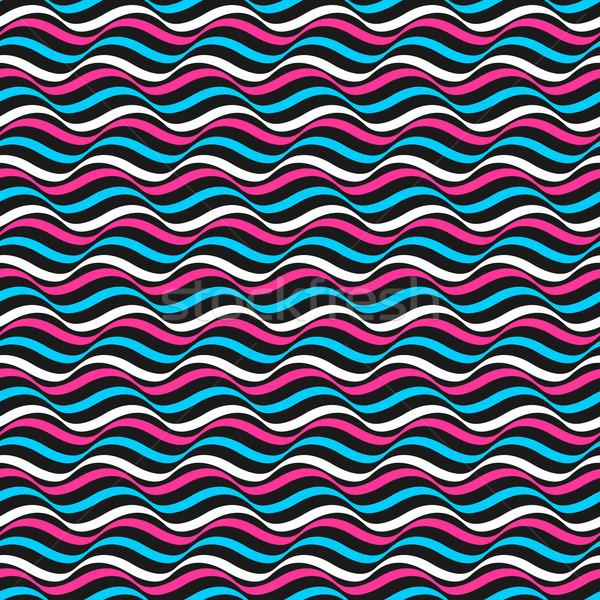 Ondulato colore pattern vettore ripetibile modello retrò Foto d'archivio © ExpressVectors
