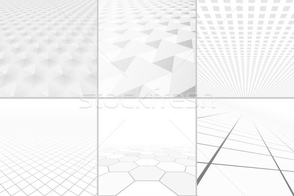Fehér hátterek nézőpont gyűjtemény absztrakt vállalati tiszta Stock fotó © ExpressVectors