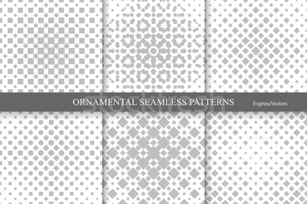 コレクション ハーフトーン シームレス 幾何学的な パターン モノクロ ストックフォト © ExpressVectors