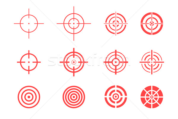 Collection of target icons on white background. Aim signs set. Stock photo © ExpressVectors