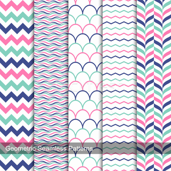 ストックフォト: 幾何学的な · 色 · コレクション · ファッション · スタイル