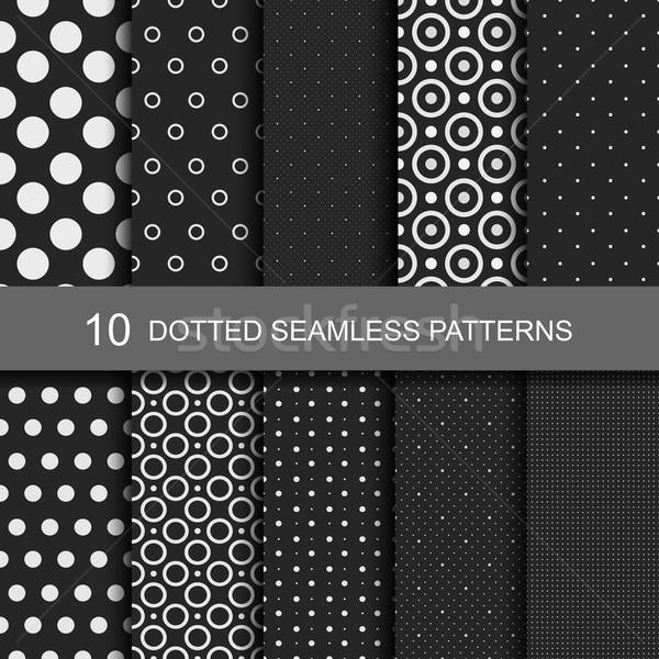 Foto stock: Colección · negro · círculos · textura · diseno