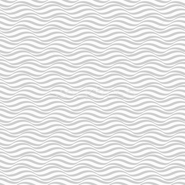 Wzór fali bezszwowy wektora tekstury morza tle Zdjęcia stock © ExpressVectors
