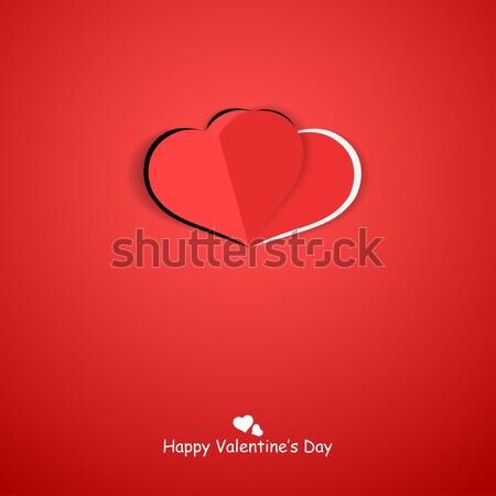 бумаги оригами сердце счастливым красный Сток-фото © ExpressVectors