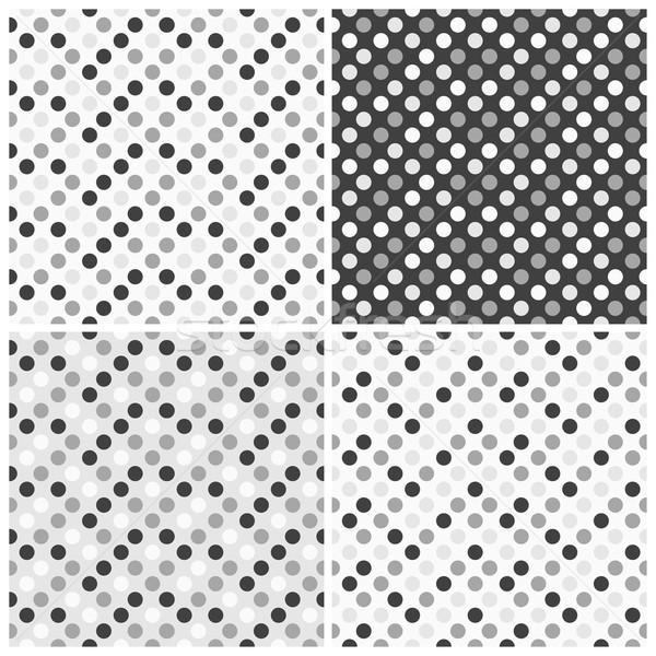 Szett végtelenített minták fehér szürke textúra papír Stock fotó © ExpressVectors