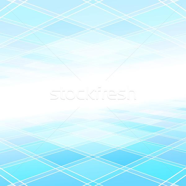 Abstract perspectief meetkundig technologie achtergrond web Stockfoto © ExpressVectors