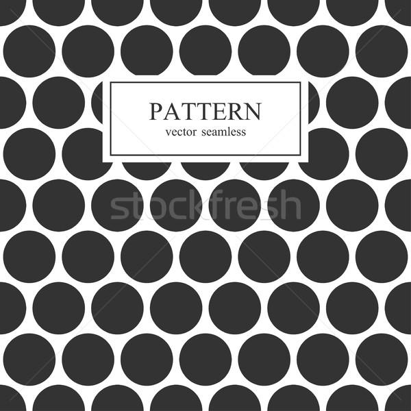 черный пунктирный бесшовный геометрическим рисунком вектора текстуры Сток-фото © ExpressVectors