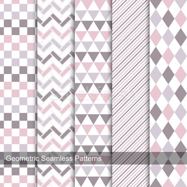 Kolekcja geometryczny projektu pomysły ściany Zdjęcia stock © ExpressVectors