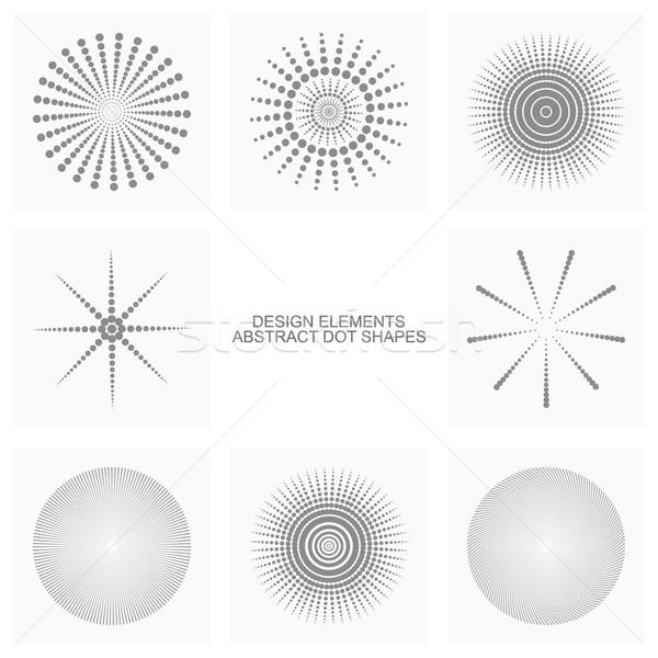 Abstract dot shapes, vector set Stock photo © ExpressVectors