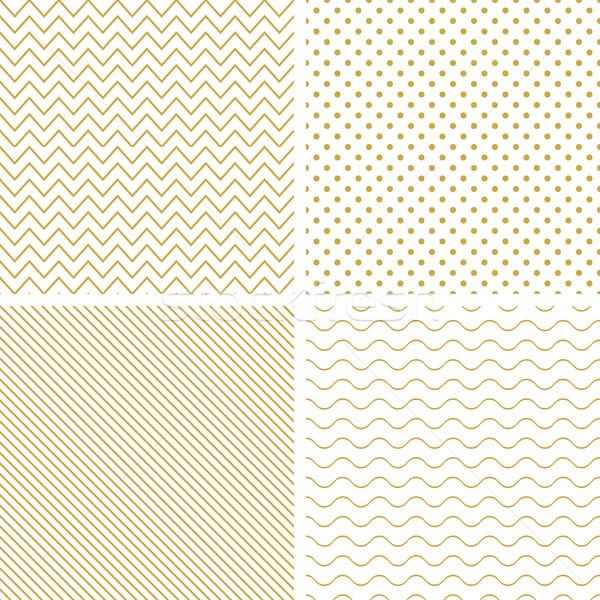 Geometric seamless vector patterns. Stock photo © ExpressVectors