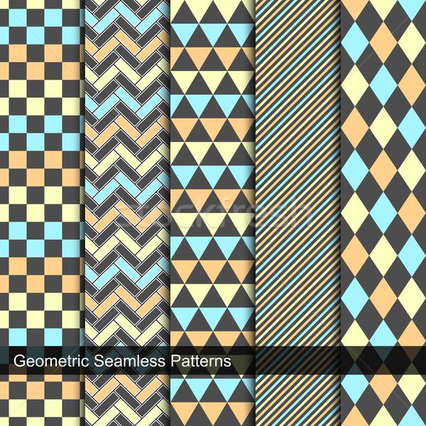 набор вектора геометрический цвета стены Сток-фото © ExpressVectors