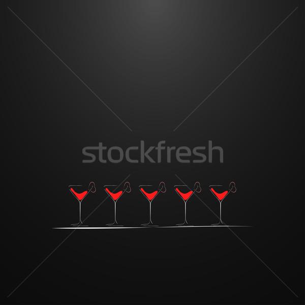 Shots with a drink. Menu design. Stock photo © ExpressVectors