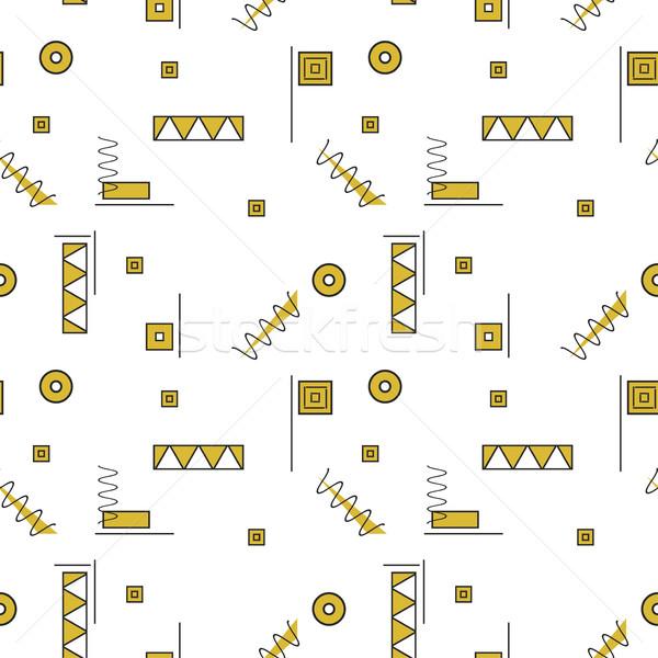 Stok fotoğraf: Vektör · soyut · altın · geometrik