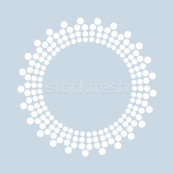 Noktalı biçim vektör beyaz eps10 Stok fotoğraf © ExpressVectors
