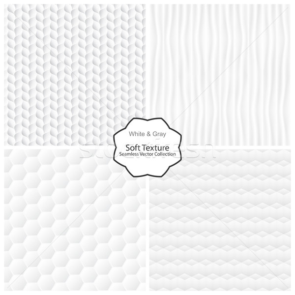 Vector collection of seamless soft textures Stock photo © ExpressVectors