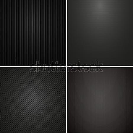 Sombre textures vecteur ensemble similaire carbone Photo stock © ExpressVectors