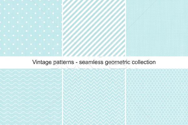 Gyűjtemény végtelenített mértani minták klasszikus stílus Stock fotó © ExpressVectors