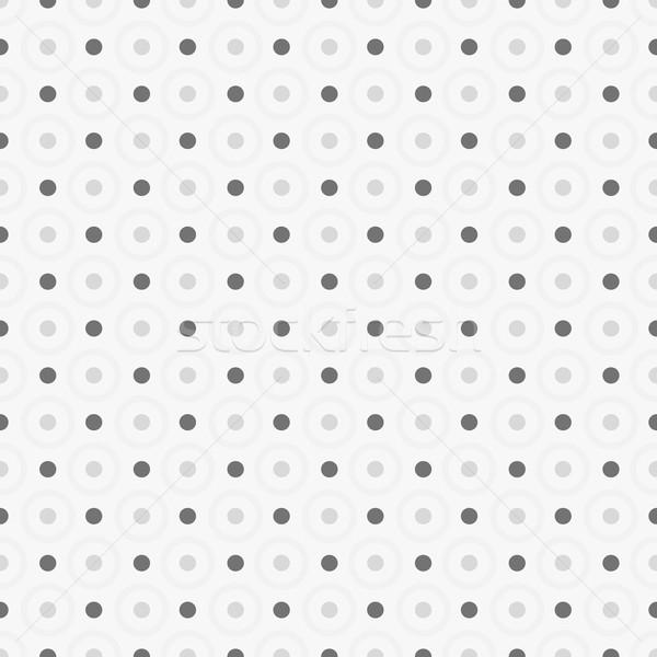 Naadloos geometrisch patroon punten papier technologie vintage Stockfoto © ExpressVectors