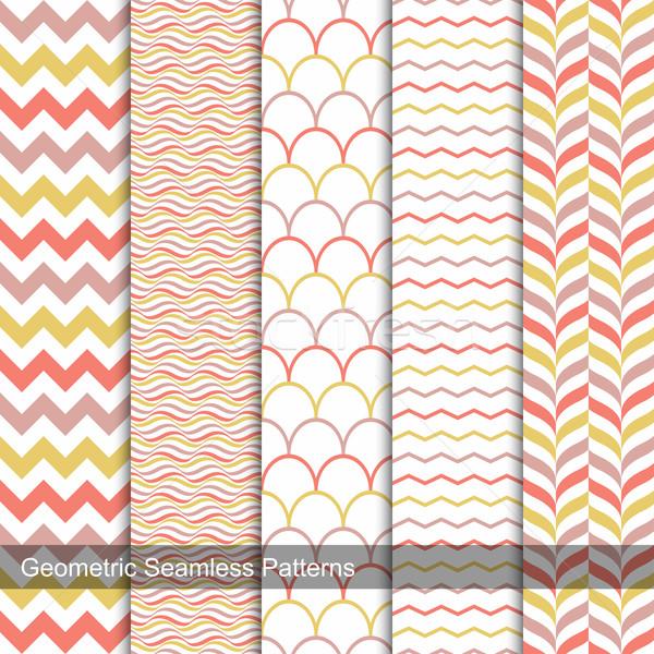 ストックフォト: コレクション · 幾何学的な · 色 · ファッション · スタイル