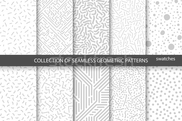Collection of swatches memphis patterns - seamless. R Stock photo © ExpressVectors