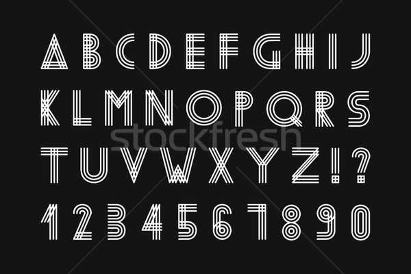 Simple minimalistic font. Stock photo © ExpressVectors