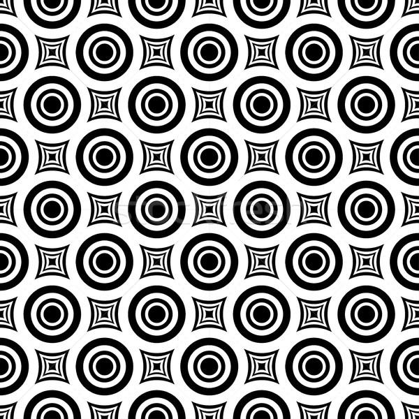 Végtelenített hipnotikus minta mértani vektor feketefehér Stock fotó © ExpressVectors