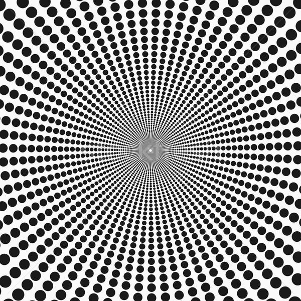 Abstract illusie patroon punten textuur kunst Stockfoto © ExpressVectors