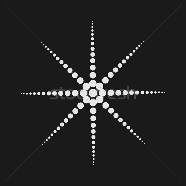 Abstract dotted shape.Vector design element Stock photo © ExpressVectors