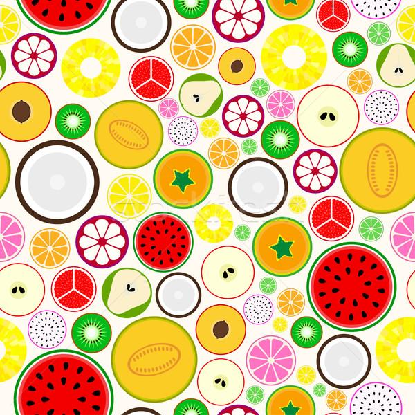Foto stock: Brilhante · fruto · sem · costura · lata · separadamente · projeto