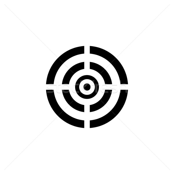 Fekete cél ikon izolált fehér keret Stock fotó © ExpressVectors