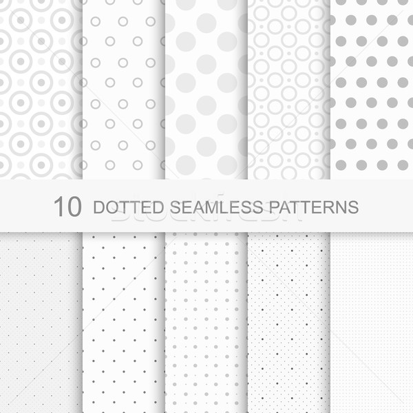 Set of seamless patterns with dots Stock photo © ExpressVectors