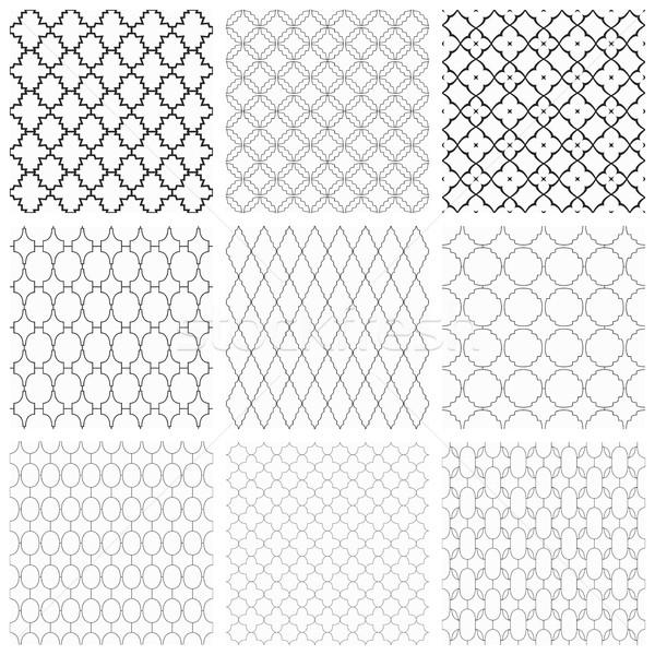 Set of seamless vector ornamental patterns. Stock photo © ExpressVectors