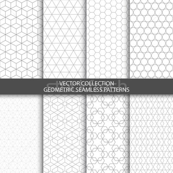геометрический декоративный структур бесшовный вектора коллекция Сток-фото © ExpressVectors