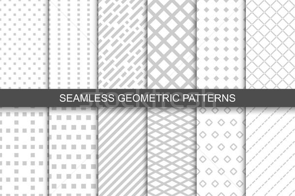 Raccolta geometrica semplice ripetibile modelli Foto d'archivio © ExpressVectors
