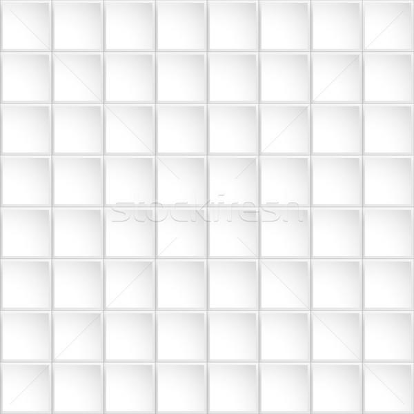 Vektor csempézett végtelenített fehér dekoratív mértani Stock fotó © ExpressVectors