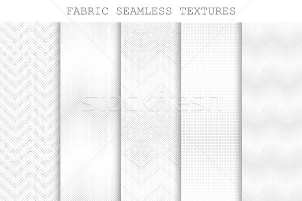 コレクション シームレス 装飾的な ファブリック テクスチャ ベクトル ストックフォト © ExpressVectors