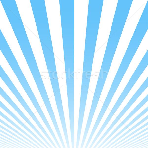Mavi çizgili yaz poster Retro tanıtım Stok fotoğraf © ExpressVectors