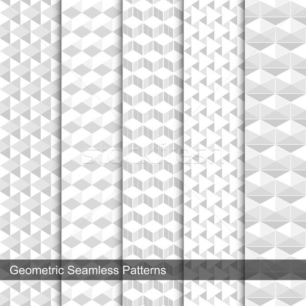 Сток-фото: набор · вектора · геометрический · аннотация · свет