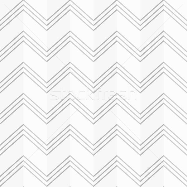 Disegno geometrico senza soluzione di continuità zig-zag carta origami 3D Foto d'archivio © ExpressVectors