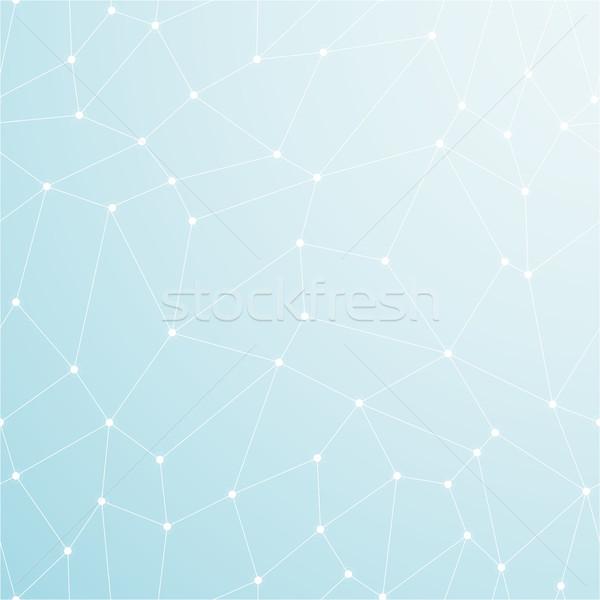 Kék absztrakt fény mértani üzlet gyógyszer Stock fotó © ExpressVectors