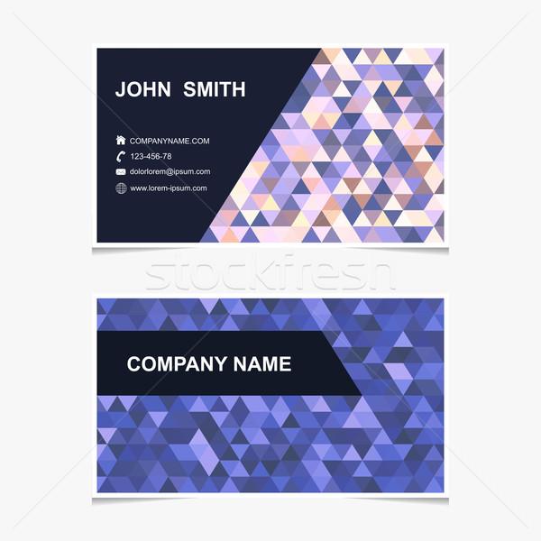 Vector business card template.  Stock photo © ExpressVectors