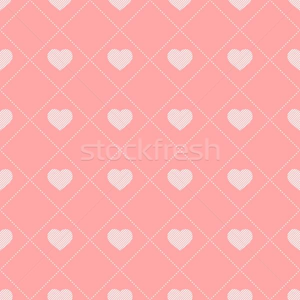 Végtelen minta szívek eps10 textúra szeretet absztrakt Stock fotó © ExpressVectors