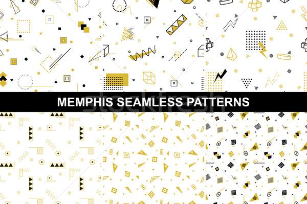 Collection of retro geometric patterns. Stock photo © ExpressVectors