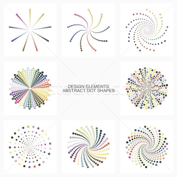 аннотация красочный точка набор дизайна Сток-фото © ExpressVectors